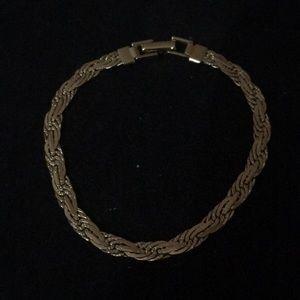 """Men's 8"""" gold bracelet"""